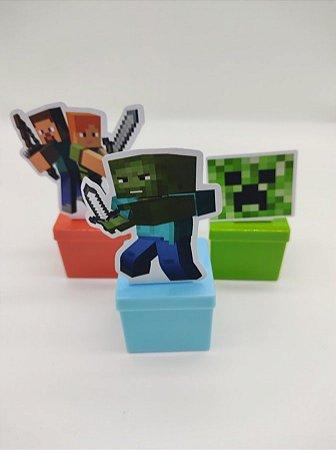 Lata quadrada Minecraft com 06 unidades