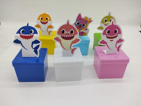 Lata quadrada Baby Shark com 06 unidades