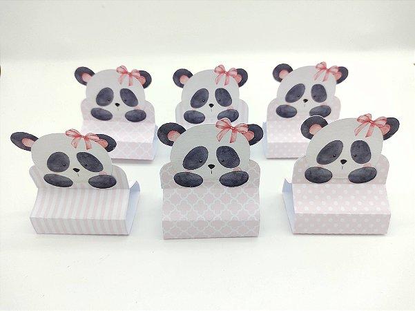 Porta Bis Triplo Panda Rosa com 06 unidades