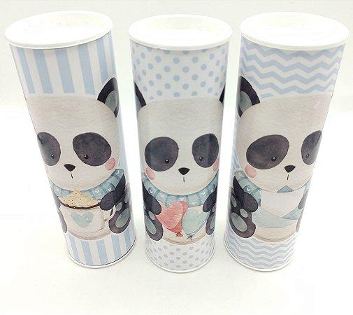 Latão Panda Azul com 03 unidades