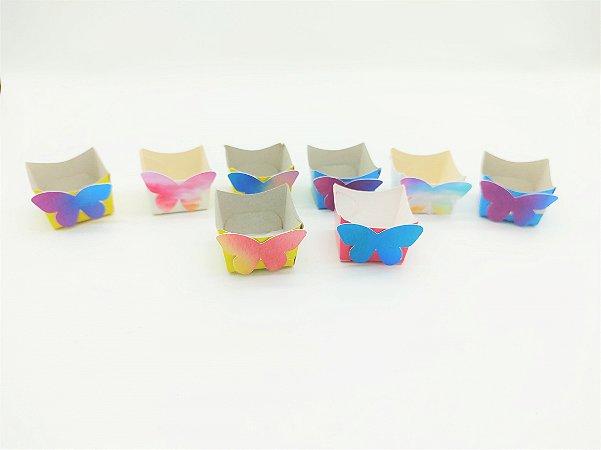 Forminha Mini Cachepot Tie Dye com 12 unidades