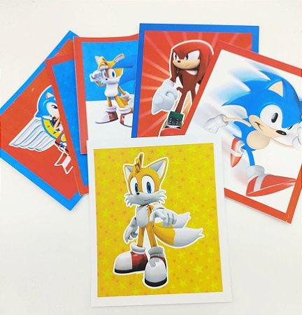 Quadrinho decorativo Sonic com 06 unidades