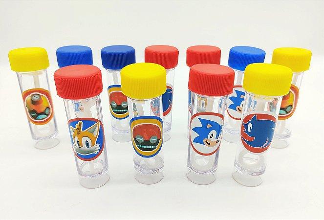 Bolha de Sabão Sonic com 06 unidades