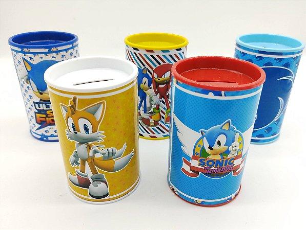 Cofrinho Sonic com 05 unidades
