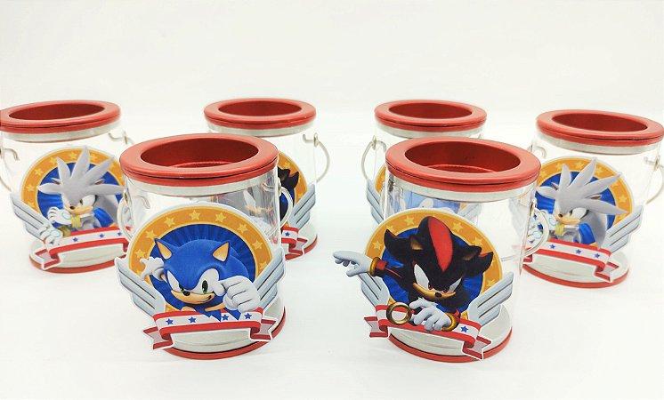 Lata acrílica com alça Sonic com 06 unidades