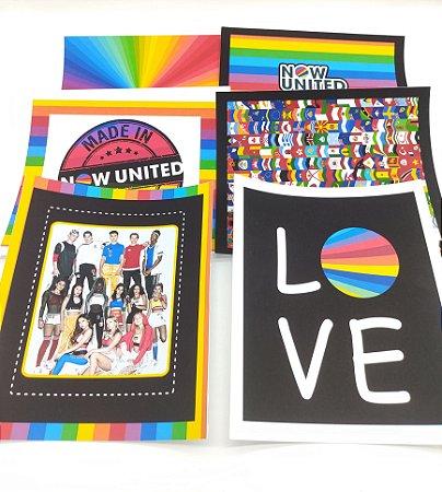 Quadrinho decorativo Now United com 06 unidades