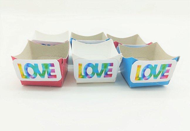 Forminha Love Mini Cachepot Tie Dye com 12 unidades