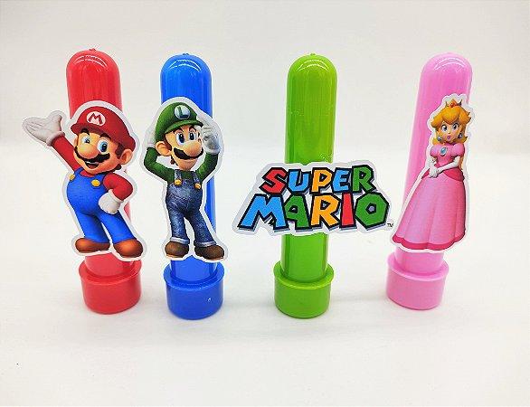 Tubete Super Mario com 04 unidades
