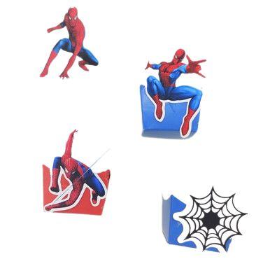 Forminha Mini Cachepot Homem Aranha com 12 unidades