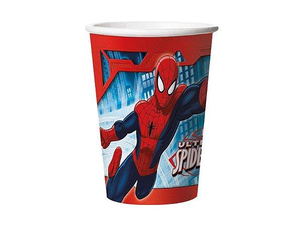 Copo de papel Ultimate Spider Man com 08 unidades