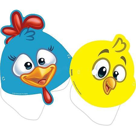 Máscaras galinha pintadinha com 8 unidades