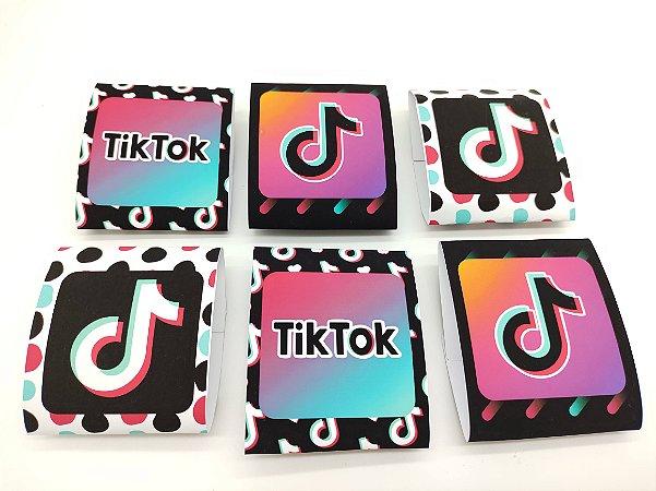 Embalagem de Brownie Tik Tok com 06 unidades