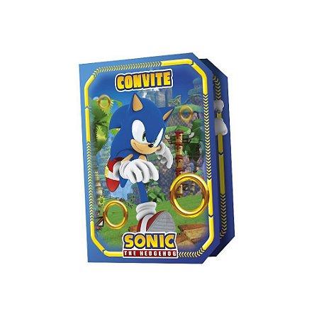 Convite Sonic com 08 unidades