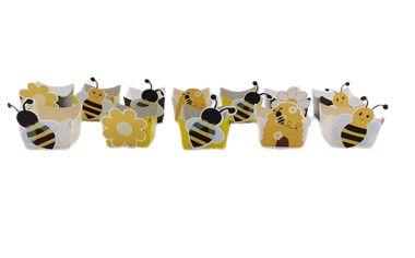 Forminha Mini Cachepot Abelhinha com 12 unidades