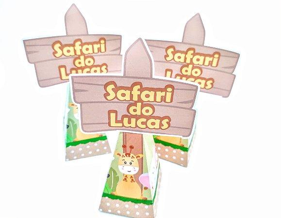Caixa Pirâmide Safari com 06 unidades
