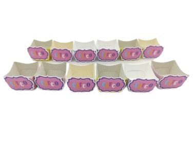Forminha Mini Cachepot Circo Rosa com 12 unidades