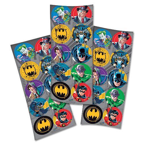 Adesivo decorativo redondo Batman 2016 com 03 cartelas