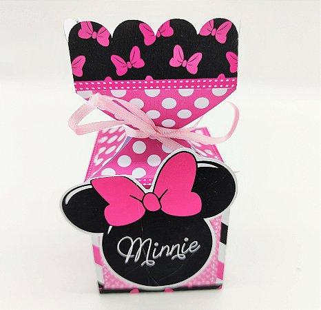 Caixa Bala Minnie Rosa com 06 unidades