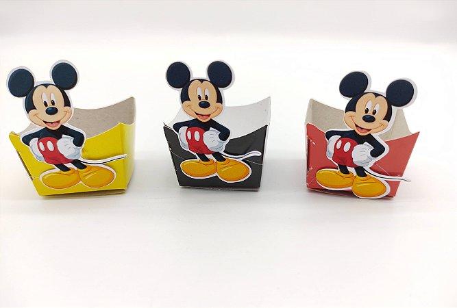 Forminha Mini Cachepot Mickey Clássico com 12 unidades