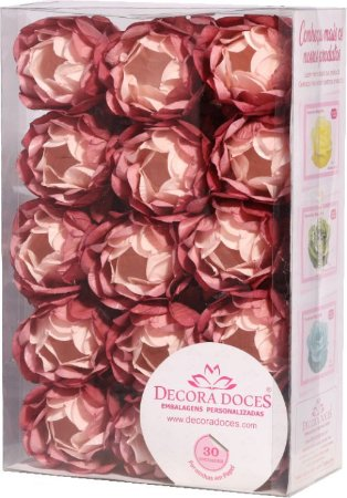 Forminha Decora Doces Degradê Rosa Seco 30 unidades