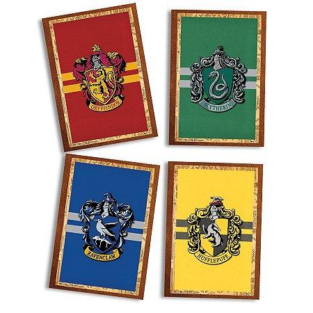 Quadro Decorativo Harry Potter com 04 unidades