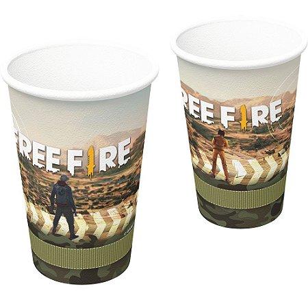 Copo de papel Free Fire com 08 unidades