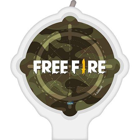 Vela Plana Free Fire com 01 unidade