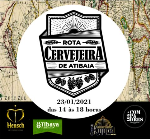 ROTA CERVEJEIRA DE ATIBAIA - TURMA 1 - 23/01/2021 - DAS 14h00 ÀS 18h00