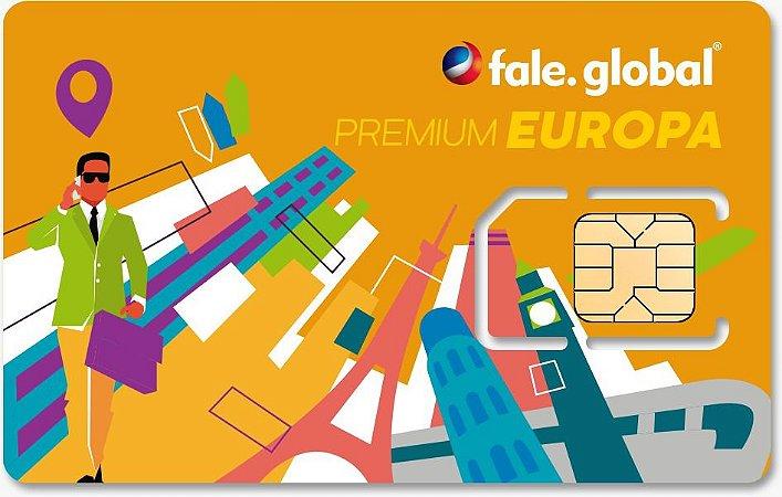 CHIP EUROPA PREMIUM com 1GB por dia - Viagens a partir de 15 dias
