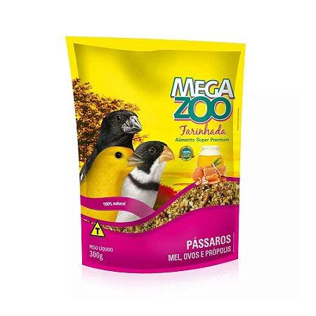 Megazoo - Farinhada Pássaros Mel, Ovos e Própolis - 300g (VALIDADE: 30/07/2021)