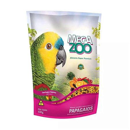 Megazoo - Extrusada Papagaio Frutas e Legumes - 600g (VALIDADE: 26/11/2021)