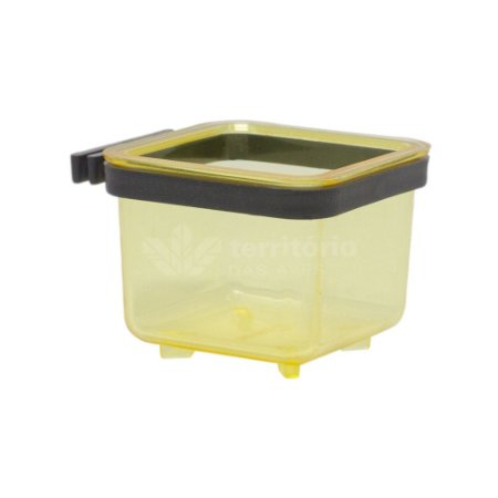 Porta vitamina quadrado Trincão - Amarelo