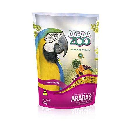 Megazoo - Extrusada Araras com Frutas e Legumes - 600g (VALIDADE 12/09/2021)