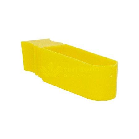 Porta Vitamina Unha - Malha Fina - Amarelo