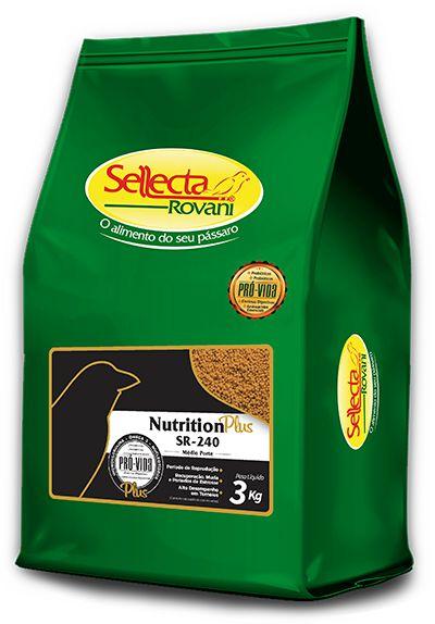 Sellecta - Nutrition Plus SR-240 Médio Porte - 3kg
