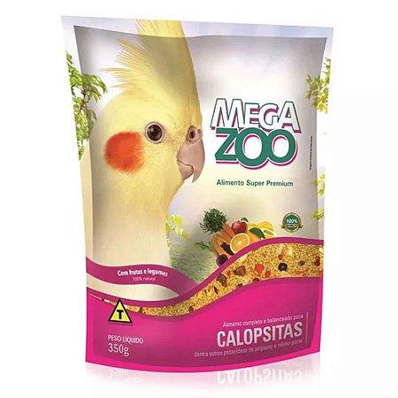 Megazoo - Extrusada Calopsita com Frutas e Legumes - 350g