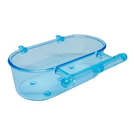 Banheira com Poleiro Pequena Azul