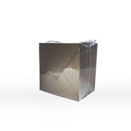Lote 05 - Envelope Aba Bico 10x10 - 50 unid.