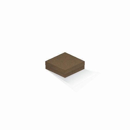 Caixa de presente   Quadrada F Card Scuro Marrom 10,5x10,5x4,0