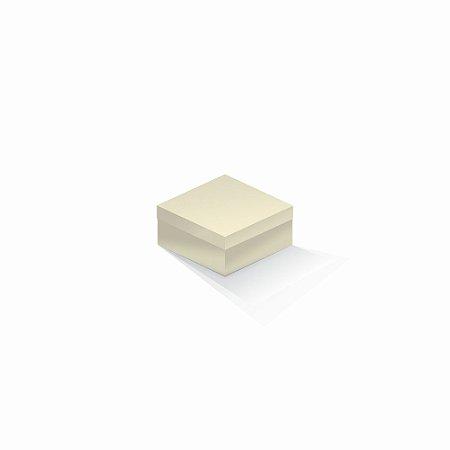 Caixa de presente | Quadrada Color Plus Marfim 10,5x10,5x6,0
