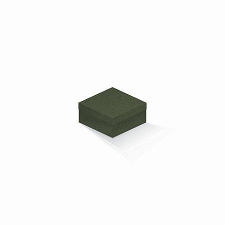 Caixa de presente | Quadrada F Card Scuro Verde 10,5x10,5x6,0