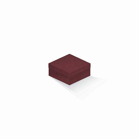 Caixa de presente | Quadrada F Card Scuro Vermelho 10,5x10,5x6,0
