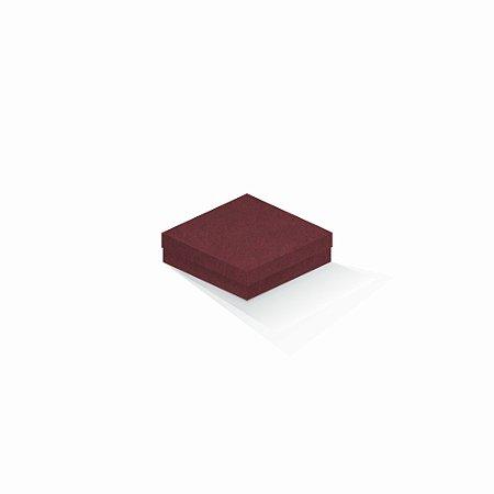 Caixa de presente | Quadrada F Card Scuro Vermelho 12,0x12,0x4,0