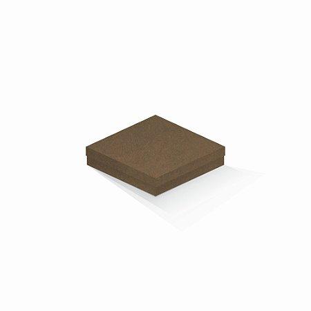 Caixa de presente | Quadrada F Card Scuro Marrom 15,5x15,5x4,0