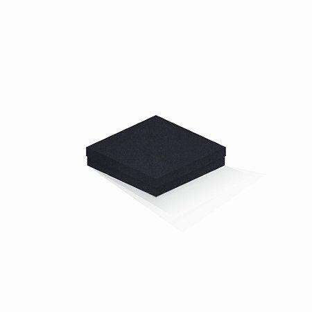 Caixa de presente   Quadrada F Card Scuro Preto 15,5x15,5x4,0