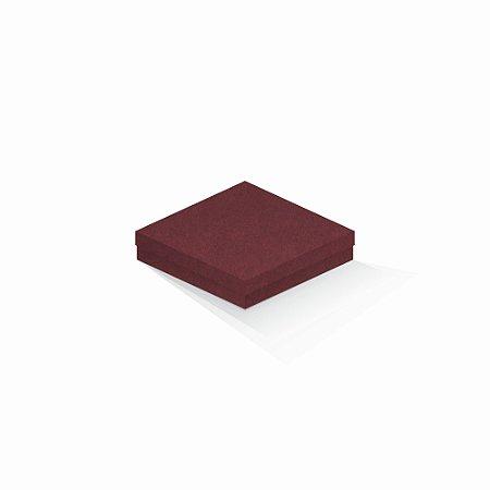 Caixa de presente | Quadrada F Card Scuro Vermelho 15,5x15,5x4,0
