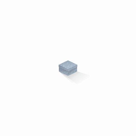 Caixa de presente | Quadrada Color Plus Metálico Mar Del Plata 5,0x5,0x3,5