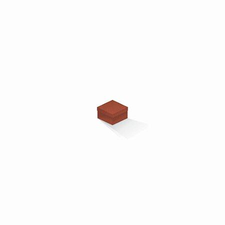 Caixa de presente   Quadrada F Card Scuro Laranja 5,0x5,0x3,5
