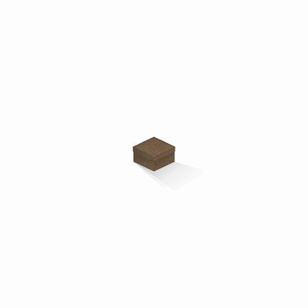 Caixa de presente | Quadrada F Card Scuro Marrom 5,0x5,0x3,5