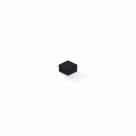 Caixa de presente | Quadrada F Card Scuro Preto 5,0x5,0x3,5